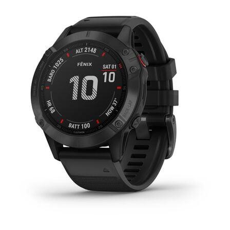 GARMIN - Garmin Fenix 6 Pro 47mm Black with Black Band Smart Watch