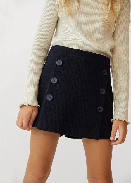 Mango - dark grey Textured high-waist shorts