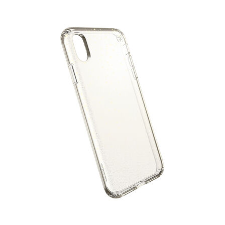 SPECK - Speck Presidio Clear + Glitter Case Clear with Gold Glitter/Clear for iPhone XS Max