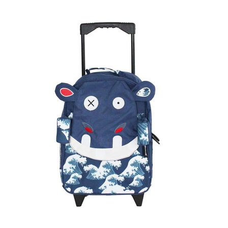 LES DEGLINGOS - Hippipos the Hippo Medium Trolley Backpack