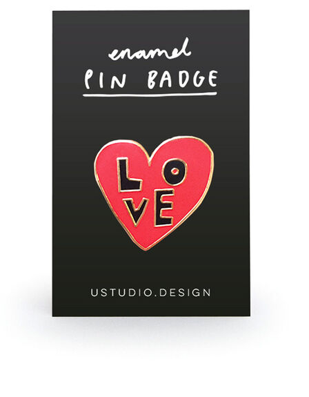 USTUDIO DESIGN LTD - Ustudio Pin Badge Love Heart