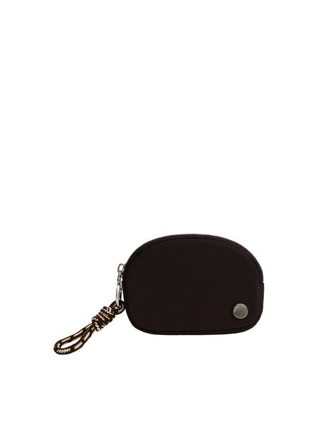 Mango - black Quilted coin purse with knot, Women