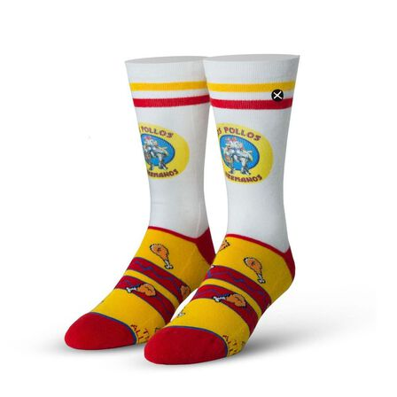 ODD SOX - Odd Sox Breaking Bad Los Pollos Hermanos Standard Men's Socks [Size 6-13]