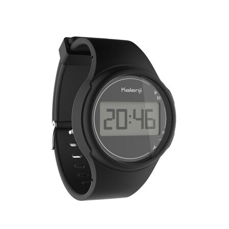 KIPRUN - Unique Size  W100 M men's running stopwatch - Black, Black