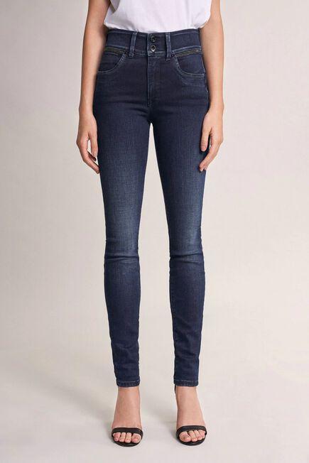 Salsa Jeans - Blue Push In Secret skinny jeans with sparkle on belt