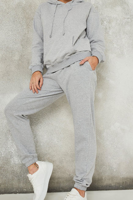 Missguided - Grey Hoodie And Joggers Co Ord Set