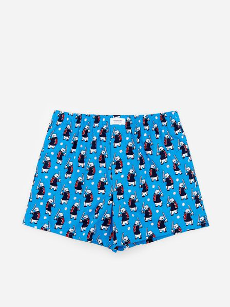 Reserved - Blue Patterned Cotton Rich Boxers, Men