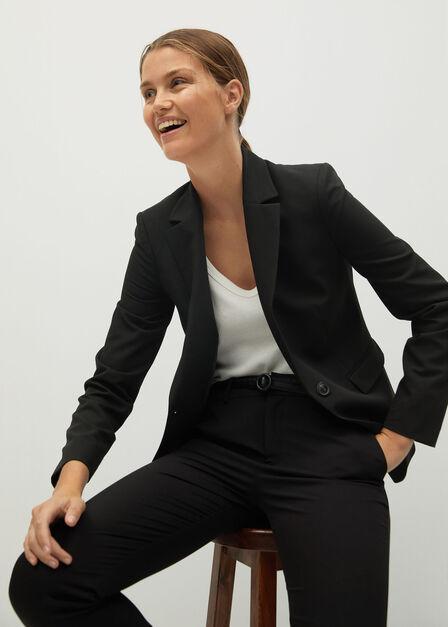 Mango - black Belt suit trousers