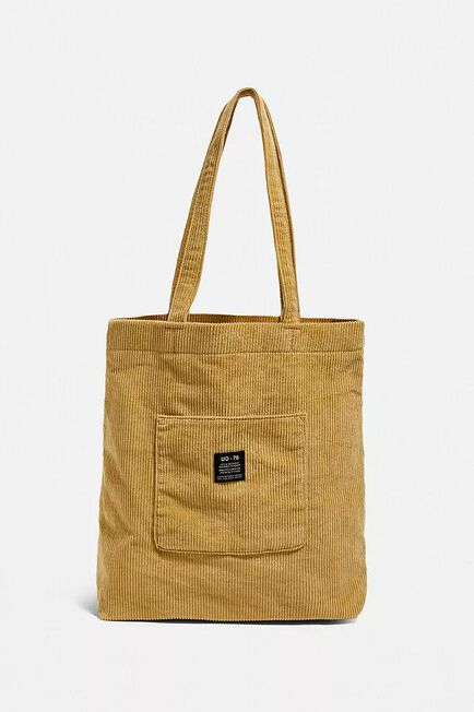 Urban Outfitters - Yellow UO Corduroy Pocket Tote Bag, Women