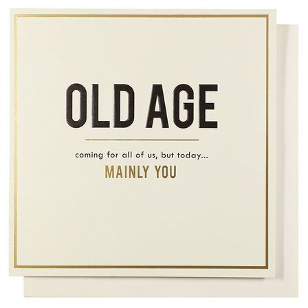 PIGMENT PRODUCTIONS - Pigment Alice Scott Old Age Coming For All of Us Greeting Card