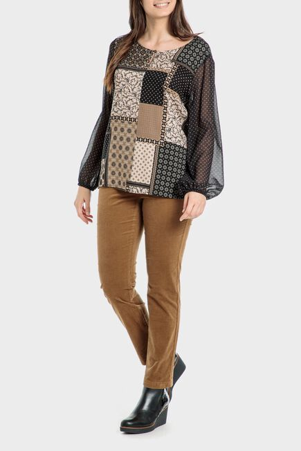 Punt Roma - Patchwork print shirt