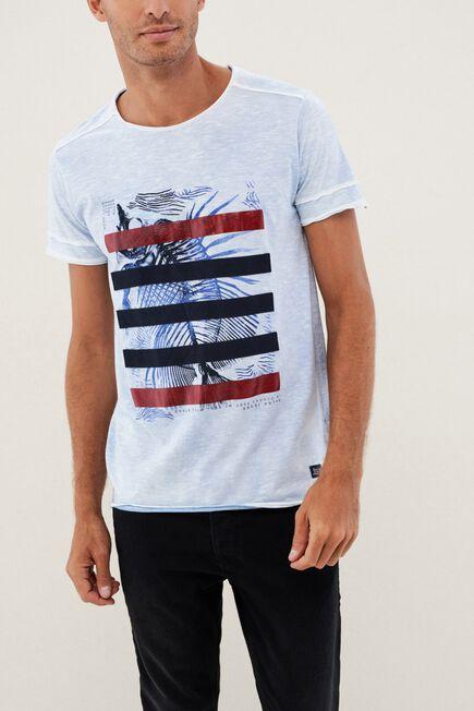 Salsa Jeans - Grey Graphic Crew Neck T-Shirt
