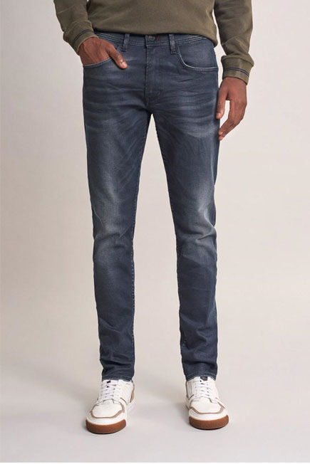 Salsa Jeans - Grey Andy slim jeans with wear on back pocket