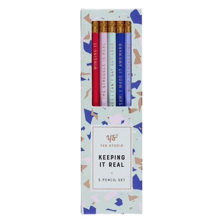YES STUDIO - Yes Studio Keeping It Real Set Hb Pencils [Set of 5]