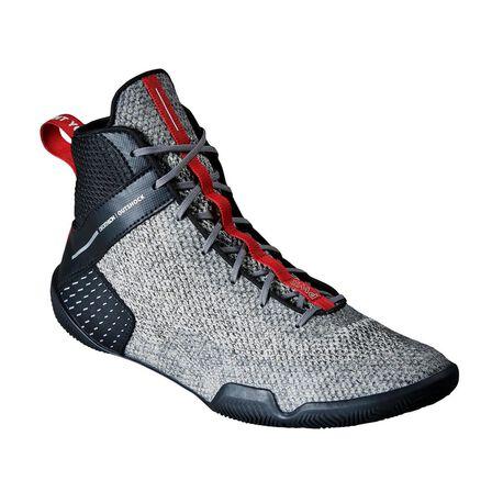 OUTSHOCK - EU 41 Lightweight Flexible Boxing Shoes 500 - Steel Grey