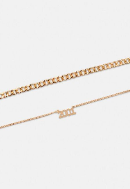 Missguided - Gold Gold Look 2001 Chain Anklet 2 Pack