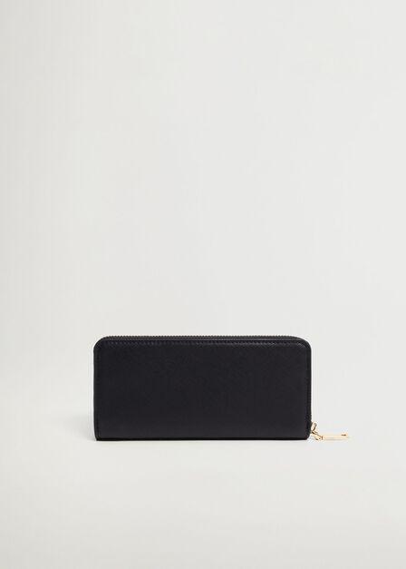 Mango - black Zip saffiano-effect wallet, Women