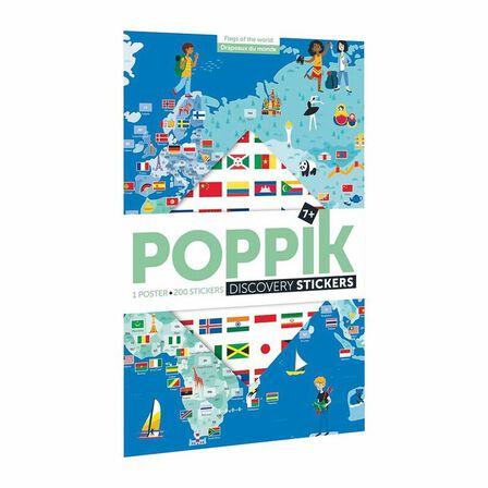 POPPIK - Poppik Discovery Flags Sticker Poster