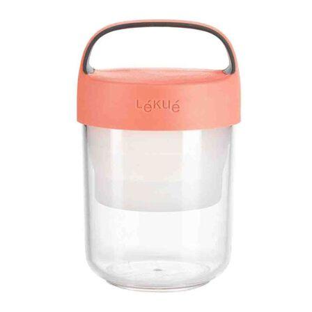 LEKUE - Lekue Jar To Go 14oz/400ml Coral