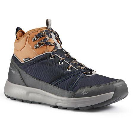 QUECHUA - EU 46  Men's waterproof off-road hiking shoes NH150 Mid WP, Asphalt Blue