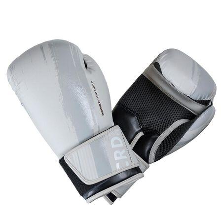 OUTSHOCK - 8 Oz  300 Beginner Adult Boxing Training Gloves, Beige