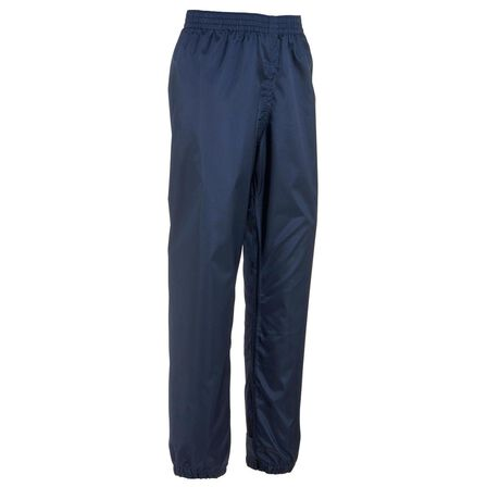 QUECHUA - 5-6Y Kids' Waterproof Hiking Over Trousers - MH100 - Navy Blue
