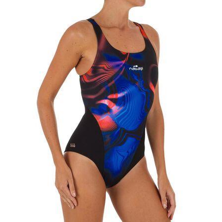 NABAIJI - Small  Kamiye PLUM women's chlorine resistant one-piece swimsuit, Black