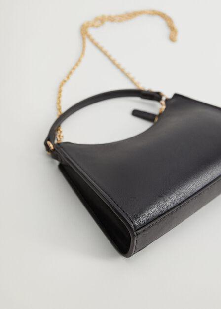 Mango - black Chain baguette mini bag