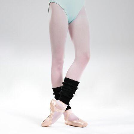 DOMYOS - Girls' Ballet And Modern Dance Leg Warmers - Black