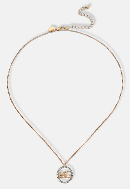 Missguided - Gold Missguided Pave Logo Pendant, Women