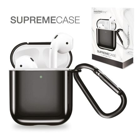 AMAZING THING - Amazing Thing Supremecase Solid Black For Airpods With Carabiner