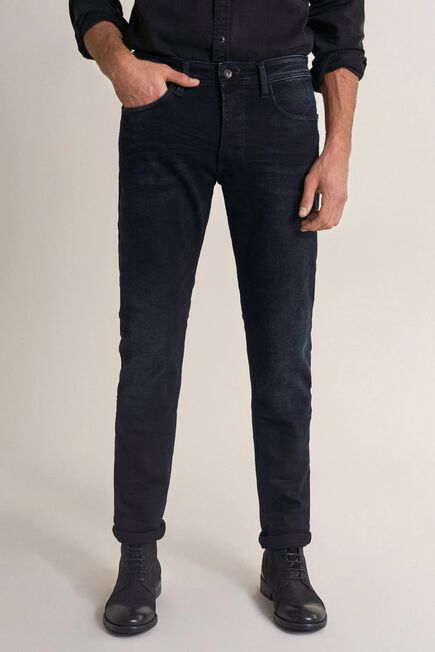 Salsa Jeans - Blue Lima tapered premium wash jeans with wear