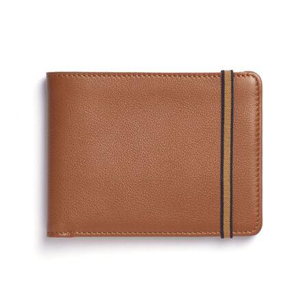 CARRE ROYAL - Carre Royal Portefeuille Porte-Carte En Cuir Leather Wallet Brandy