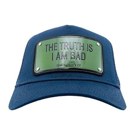 JOHN HATTER & CO - John Hatter The Truth Is I Am Bad Unisex Cap Navy Blue