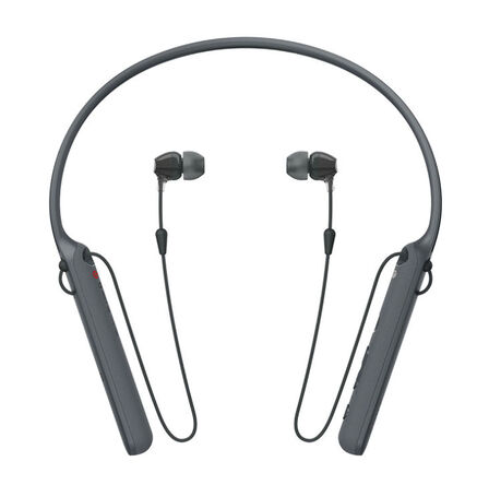 Sony - Sony WI-C400 Black Bluetooth Earphones