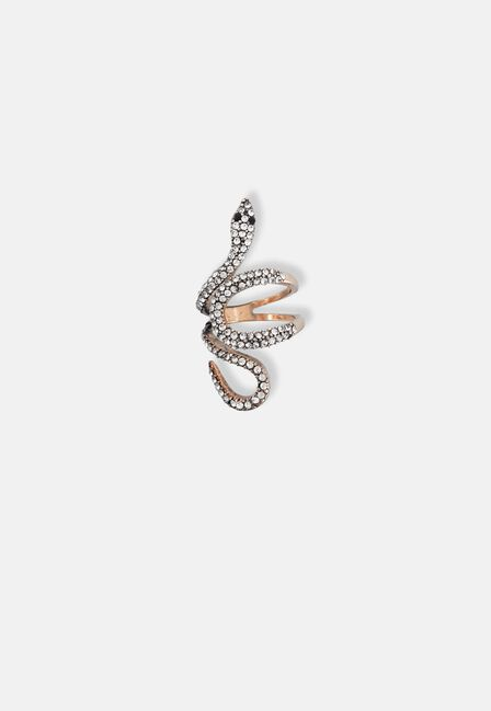Missguided - Gold Snake Wrap Ring