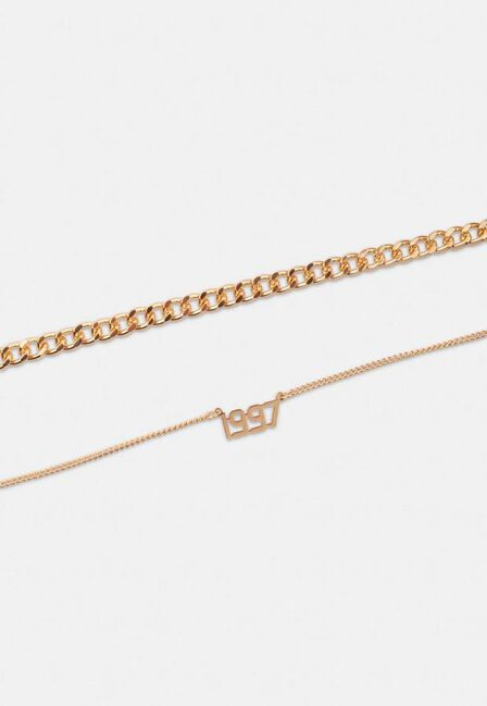 Missguided - Gold Look 1997 Chain Anklet 2 Pack