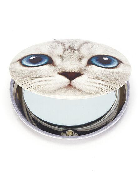CAT'S EYE - Cats Eye Silver Kitty Clam Mirror