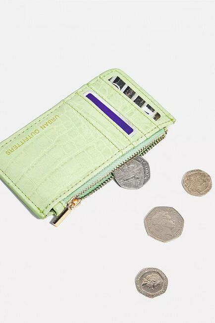 Urban Outfitters - Lime UO Faux Leather Cardholder Wallet, Women