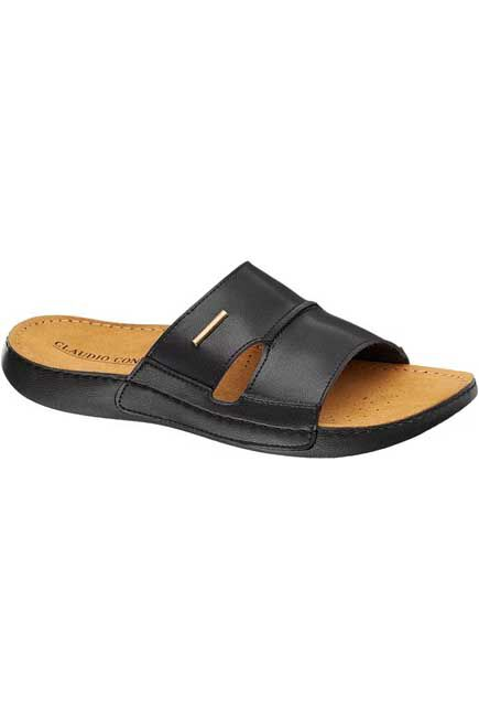 Claudio Conti - Black Slide Sandals, Men