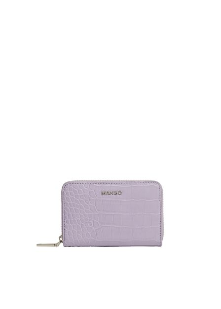 Mango - Lt-pastel purple Croc-effect wallet