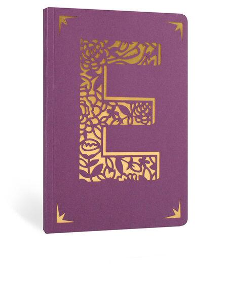 PORTICO DESIGN LTD - Portico Design E Monogram Purple A6 Notebook