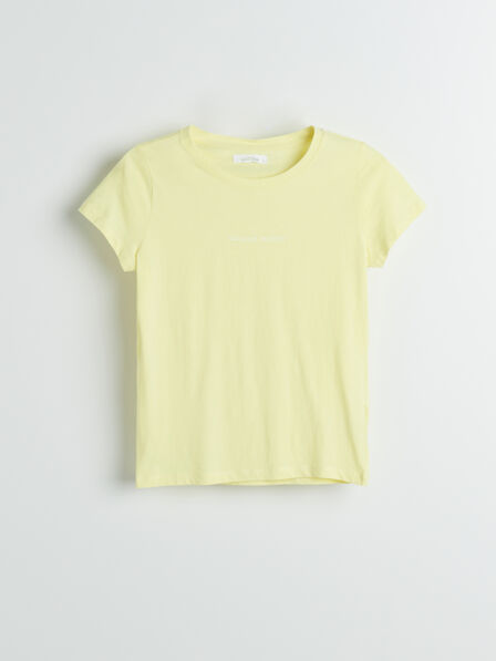 Reserved - Yellow Organic Cotton T-Shirt, Women