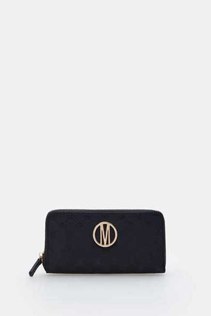 Mohito -  Wallet With Structural Detailing - Black