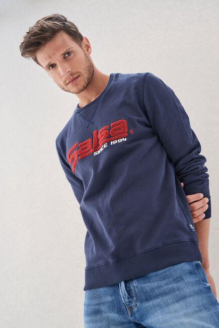 Salsa Jeans - Blue Regular Fit Sweatshirt With Branding Salsa