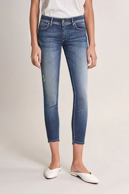 Salsa Jeans - Blue Push Up Wonder cropped jeans with detail on hem
