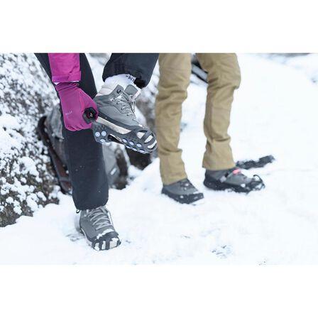 QUECHUA - Sh100 women's warm mid black snow hiking boots