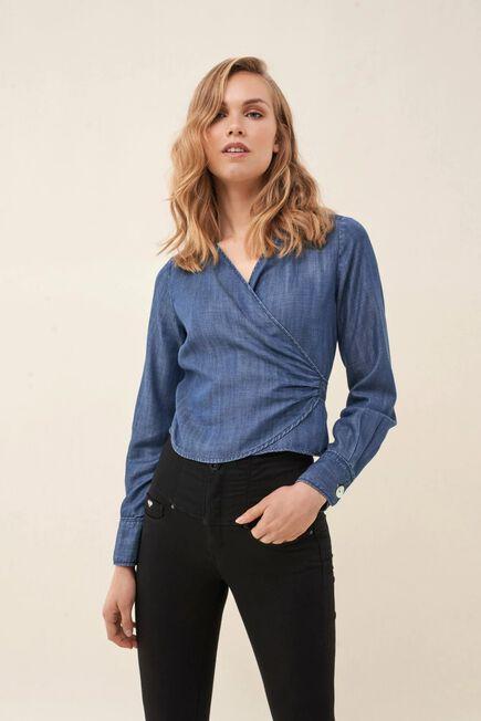 Salsa Jeans - Blue Regular fit crossed shirt