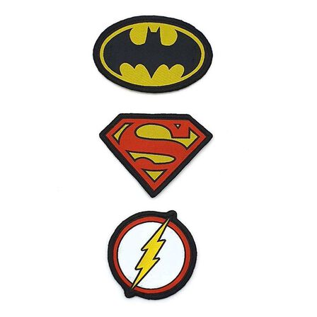 FABRIC FLAVOURS - Fabric Flavours Batman & Superman Logo Duo Medium Badges [2 Pack]