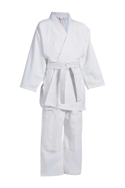 OUTSHOCK - 200 Kids' Beginner Judo, Aikido, Jiu Jitsu Uniform, 120 cm